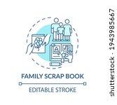 family scrap book concept icon. ...   Shutterstock .eps vector #1943985667