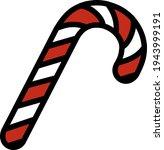 stick candy icon. editable bold ...