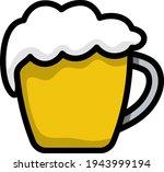 mug of beer icon. editable bold ...