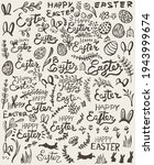 hand drawn easter elements.... | Shutterstock .eps vector #1943999674