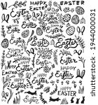 hand drawn easter elements.... | Shutterstock .eps vector #1944000031