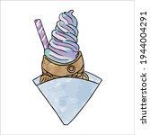 Taiyaki. Rainbow Ice Cream In...