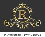 golden stylized letter r of the ...   Shutterstock .eps vector #1944010921