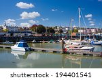 boats in ryde harbour on the... | Shutterstock . vector #194401541