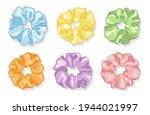 modern silk scarf. hair...   Shutterstock .eps vector #1944021997