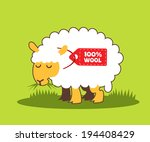 illustration of sheep | Shutterstock .eps vector #194408429