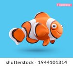 clownfish 3d realistic vector... | Shutterstock .eps vector #1944101314