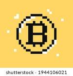bitcoin symbol pixel art.... | Shutterstock .eps vector #1944106021