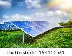 landscape with solar energy... | Shutterstock . vector #194411561
