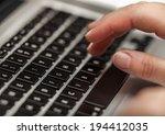 computer keyboard close up | Shutterstock . vector #194412035