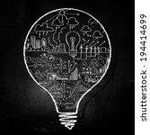 conceptual image of light bulb... | Shutterstock . vector #194414699