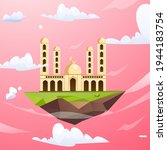 beautifull flat mosque building ...   Shutterstock .eps vector #1944183754