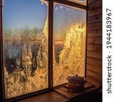 Winter Dawn In Frozen Window....