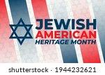 jewish american heritage month  ... | Shutterstock .eps vector #1944232621