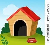 doghouse illustration in... | Shutterstock .eps vector #1944239707