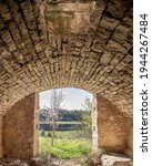 Old Stone Building With Arched...