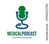 medical podcast vector logo... | Shutterstock .eps vector #1944315781