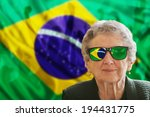 grandma fan with national color ... | Shutterstock . vector #194431775