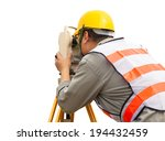 Close Up Of Surveyor Engineer...