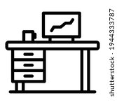 organized workplace icon....   Shutterstock .eps vector #1944333787