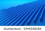 abstract 3d render  blue... | Shutterstock . vector #1944348184