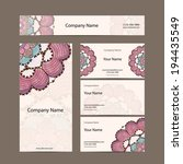 business cards collection ... | Shutterstock .eps vector #194435549