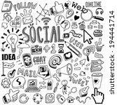hand drawn social symbols    Shutterstock .eps vector #194441714