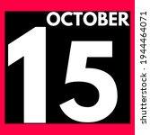 October 15 . Modern Daily...