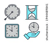 set of time and clock icon....