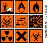 Chemical Hazard Signs Vector...