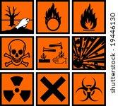 chemical hazard signs vector... | Shutterstock .eps vector #19446130