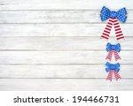 Three American Flag Glitter...