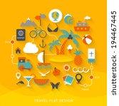 travel flat design illustration | Shutterstock .eps vector #194467445