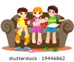 watching television   vector | Shutterstock .eps vector #19446862