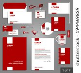 red stationery template design... | Shutterstock .eps vector #194469839