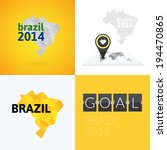 flat simple brazil map  vector... | Shutterstock .eps vector #194470865