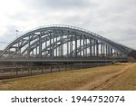Group Of Railroad Bridges With...