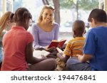 reading books. learning is funny | Shutterstock . vector #194476841