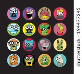 monsters   vector set | Shutterstock .eps vector #194477345