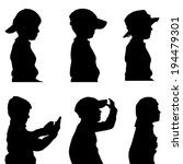 Vector Silhouette Of The Boy I...