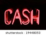 a pink neon sign spelling out... | Shutterstock . vector #19448053