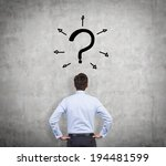 businessman and question mark ... | Shutterstock . vector #194481599