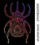 bug decorated with indian... | Shutterstock .eps vector #1944826504