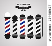 barber shop vintage pole icons... | Shutterstock .eps vector #194485637