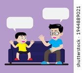 daddy and son spend time for... | Shutterstock .eps vector #1944889021