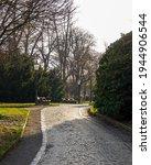 Cobblestone Footpath In Park...