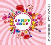 candy shop logo lable poster.... | Shutterstock .eps vector #1944909787