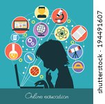 icons education. silhouette of... | Shutterstock .eps vector #194491607
