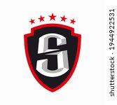 sport shield with letter s logo ...   Shutterstock .eps vector #1944922531