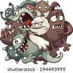 cartoon monsters. vector clip... | Shutterstock .eps vector #194493995